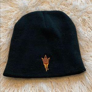 Arizona State University pitchfork black beanie